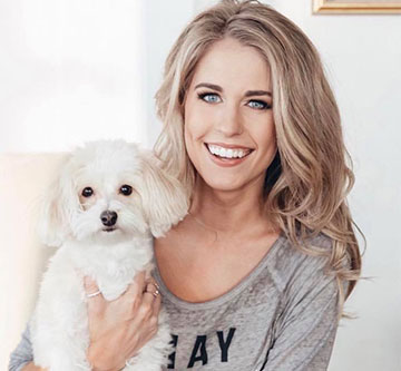 Jillian Cardarelli and her dog Leia