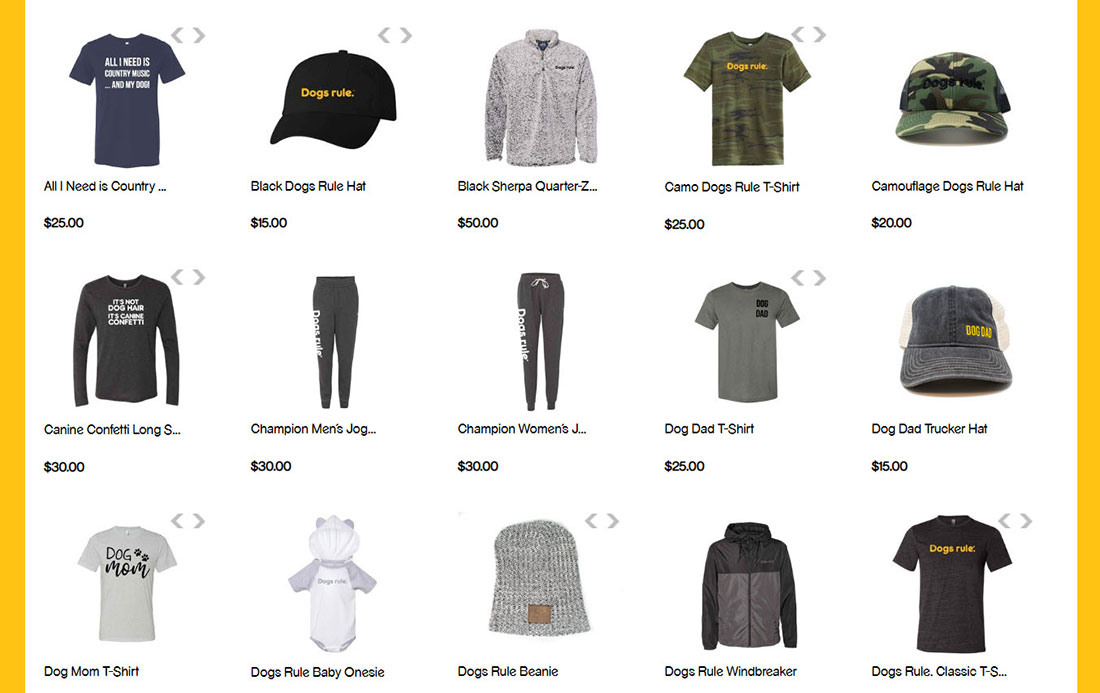 Screen shot of PEDIGREE Foundation online store