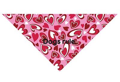 dog bandana with hearts