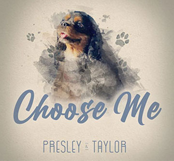 Choose Me song artwork with a dog and pawprints